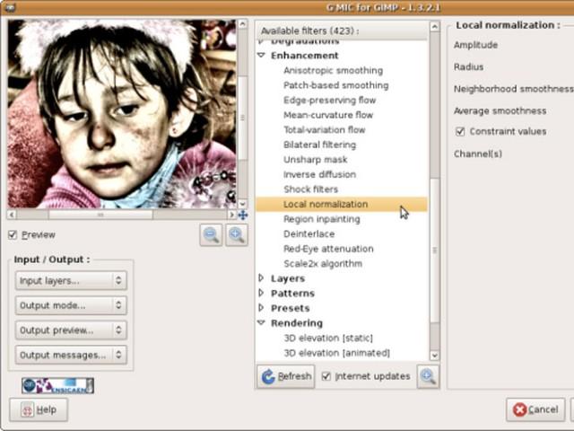 G'MIC, une tonne de filtres créatifs pour GIMP