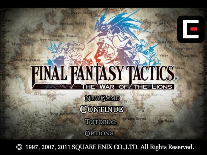 Final Fantasy Tactics maintenant disponible sur iPad