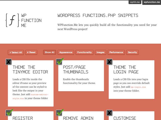 """Générer le """"functions.php"""" de son Wordpress avec WPFunction.me"""