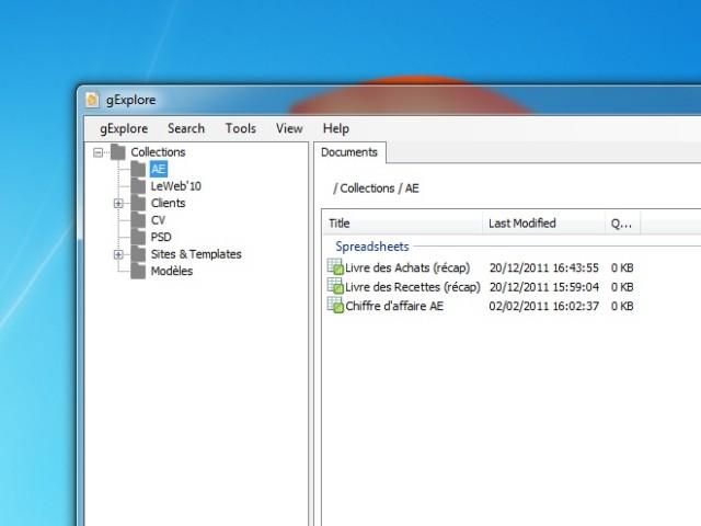 Gérer ses documents Google Docs depuis Windows avec gExplore
