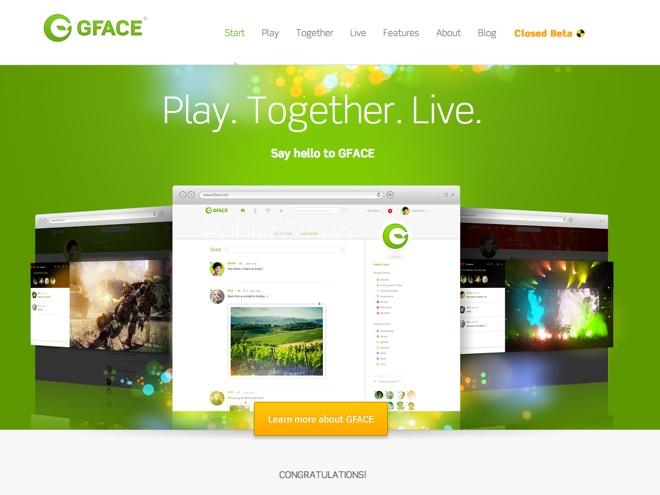 GFace, le réseau social de Crytek avec des fonctions similaires à Skype ou encore OnLive