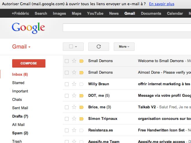 Gmail peut maintenant ouvrir les liens spéciaux