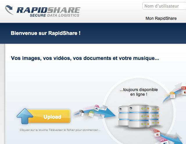 RapidShare va limiter les débits pour lutter contre le piratage