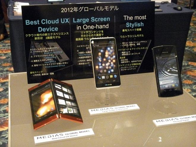 NEC : un concept de mobile à double écran tactile