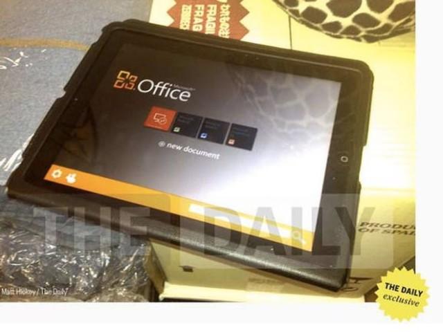 Office pour iPad : une première photo