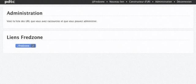 PDTC : le raccourcisseur d'URL intelligent... et complet !