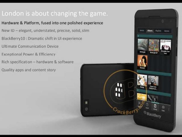 BlackBerry London : encore une photo du SuperPhone de RIM