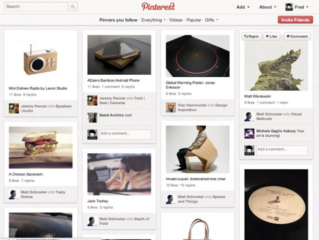 Pinterest épingle le web (+ invitations)