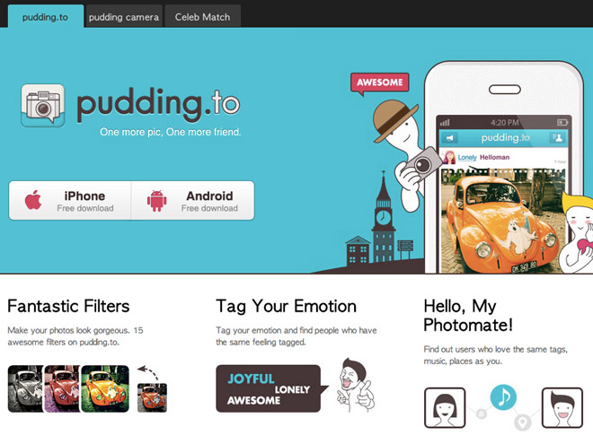 Pudding.to, un autre Instagram pour Google Android