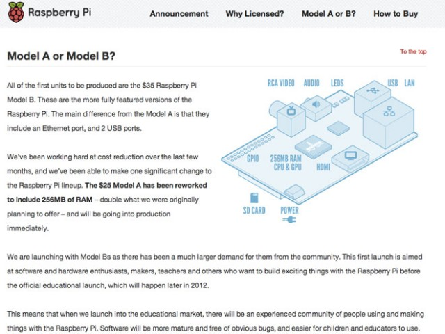 Le Raspberry Pi est disponible à la vente !