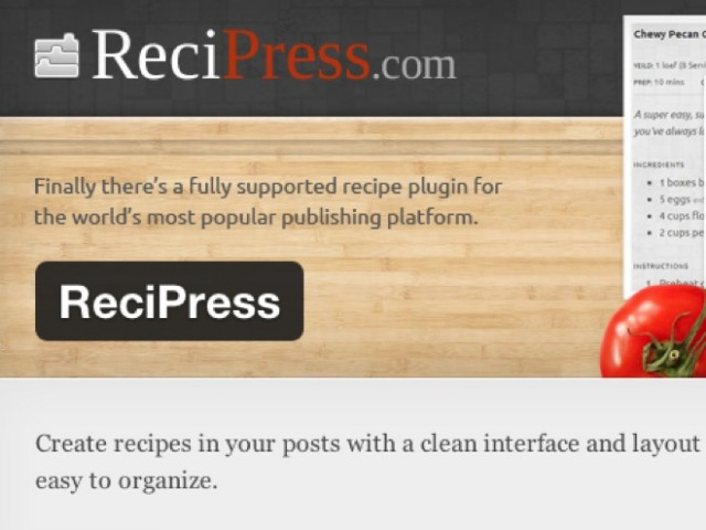Wordpress : mettre en forme vos recettes de cuisine avec Recipress