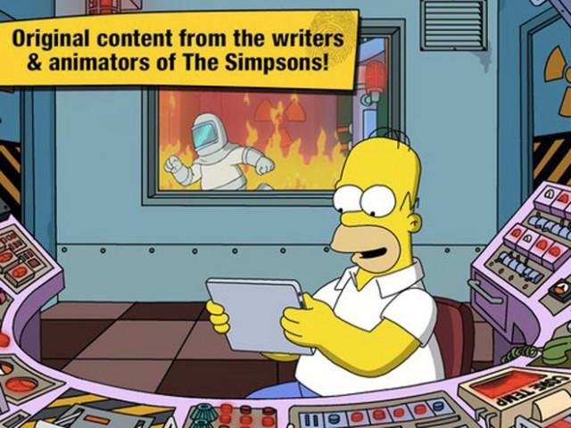 Les Simpsons arrivent sur iPhone, iPod Touch et iPad