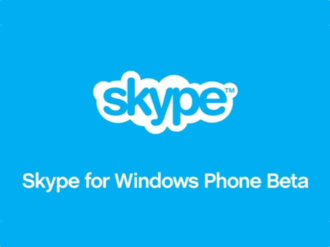Skype arrive sur Windows Phone... en version bêta