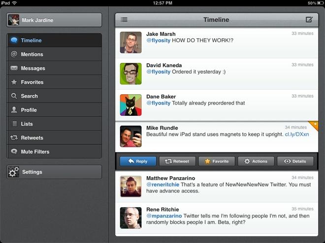 Tweetbot est disponible sur iPad