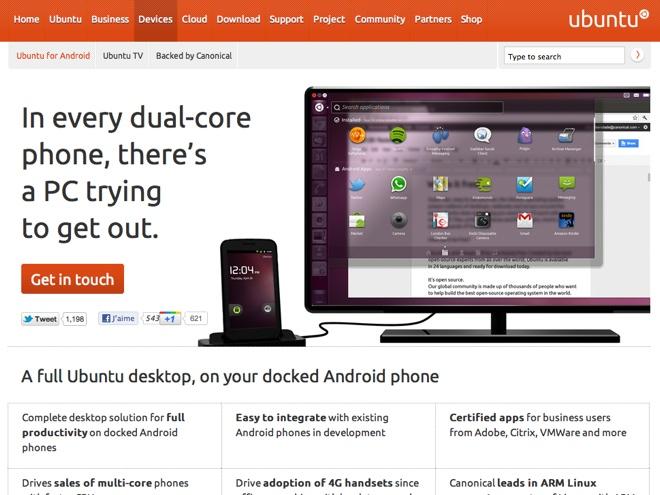 Ubuntu va transformer ton mobile Android en un véritable ordinateur