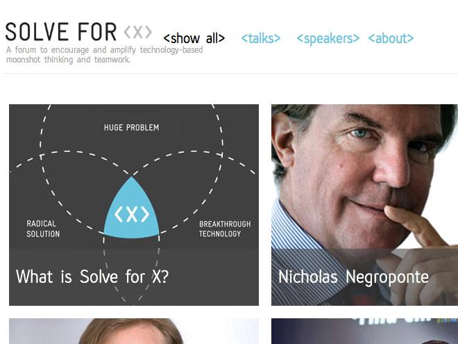 We Solve For X, quand Google veut sauver le monde