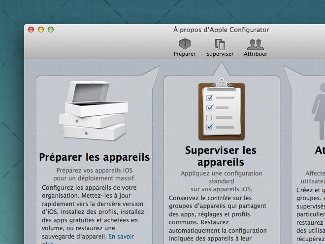 Apple Configurator : administrez jusqu'à 30 iDevices simultanément