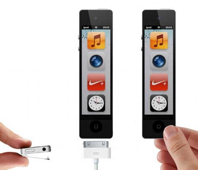 Concept : un iPod Nano tout en longueur