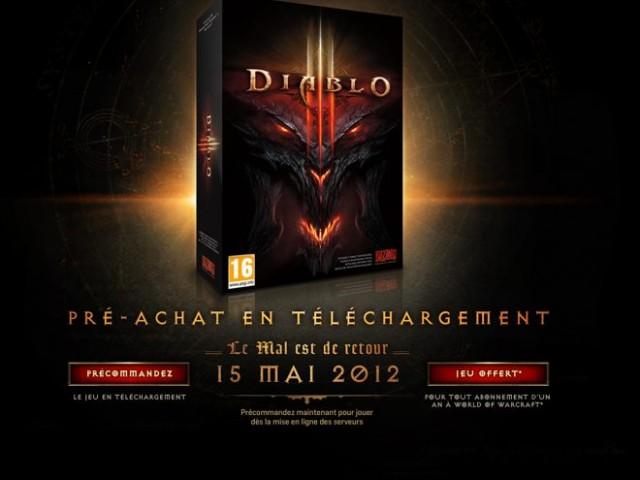 Diablo 3 arrivera le 15 mai !
