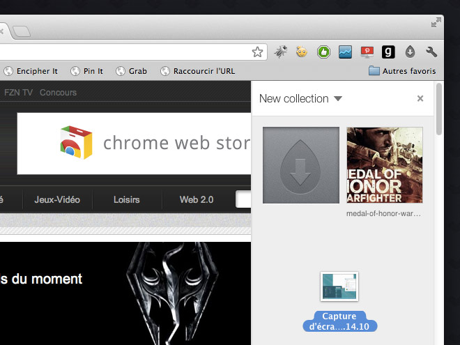 """Stocker des fichiers dans le """"cloud"""" avec Dropmark pour Google Chrome"""