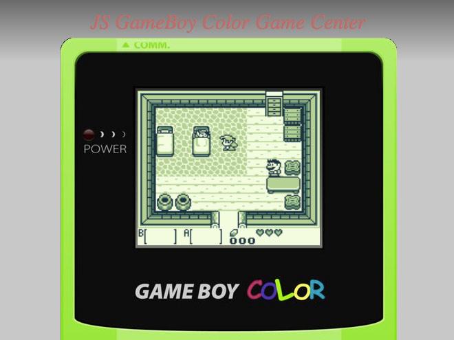 Un émulateur Game Boy Color dans votre navigateur