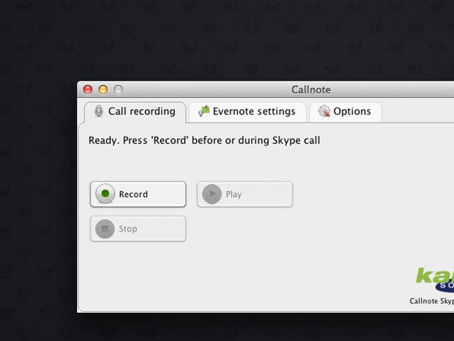Enregistrer ses conversations Skype et les envoyer vers Evernote avec Callnote