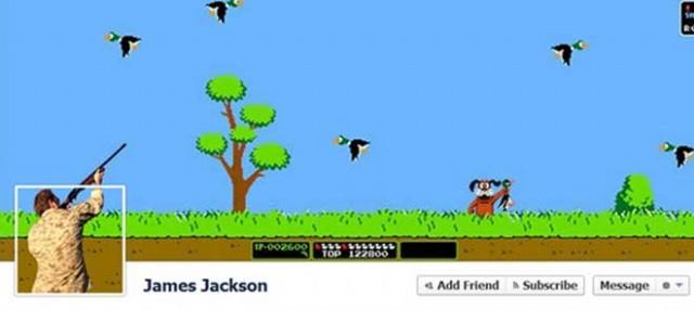 La Timeline Facebook Duck Hunt
