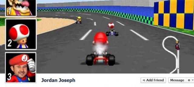 La Timeline Facebook Mario Kart