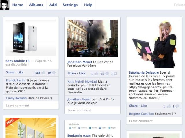 Friendsheet, les photos de vos amis Facebook façon Pinterest