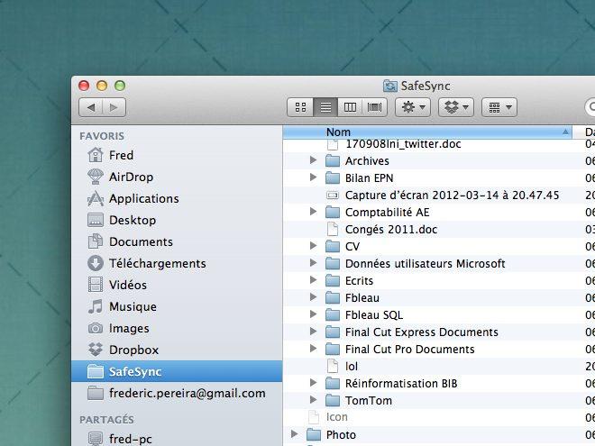inSync, Google Docs intégré dans Windows, Mac OS ou Linux