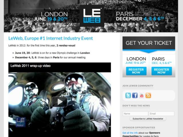 LeWeb'12 : l'été à Londres, l'hiver à Paris