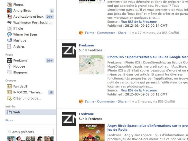 Facebook : les listes d'intérêts