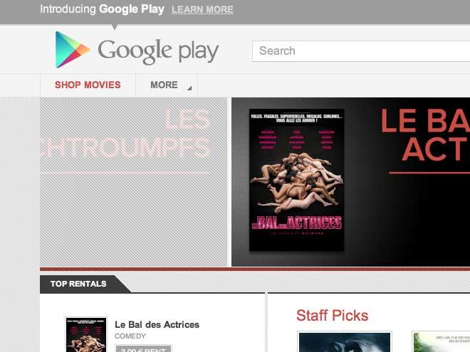 La location de films fait son entrée sur Google Play