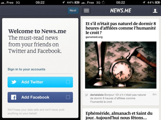 News.me est disponible sur iPhone !