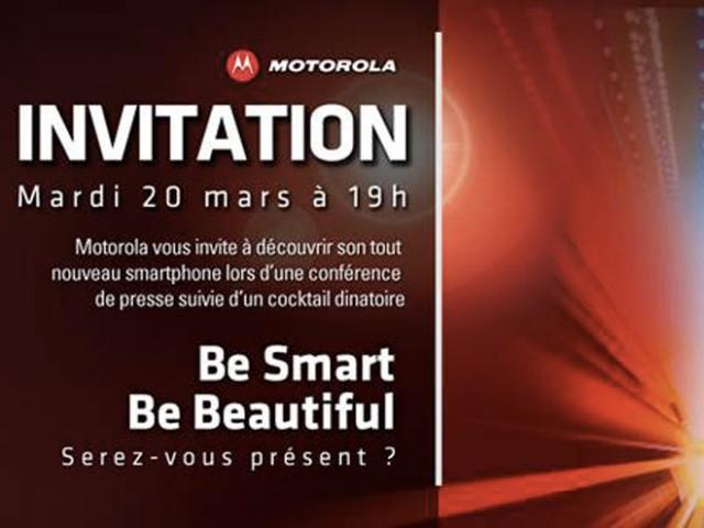 Motorola : un nouveau smartphone pour le 20 mars !