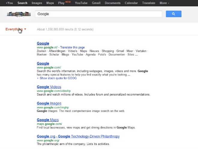 Google testerait une nouvelle interface pour ses filtres de recherche
