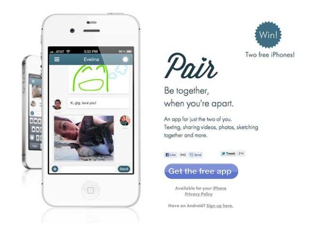 Pair, une application iPhone pour les couples