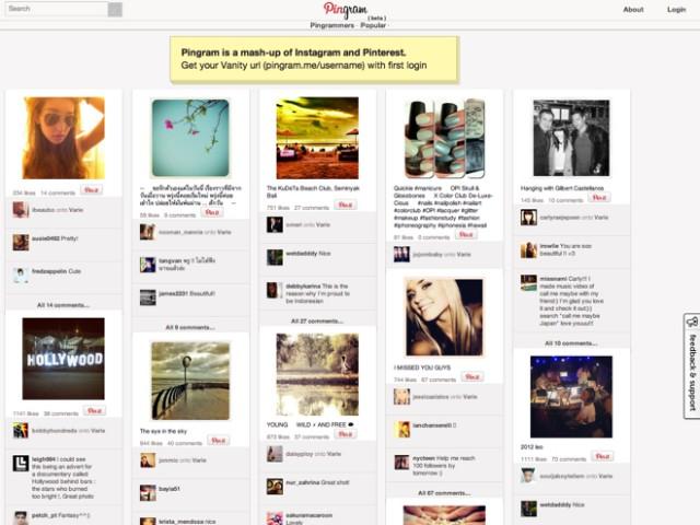 Pingram, Instagram à la sauce Pinterest