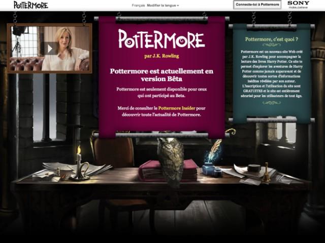 Pottermore : ouverture en avril ?