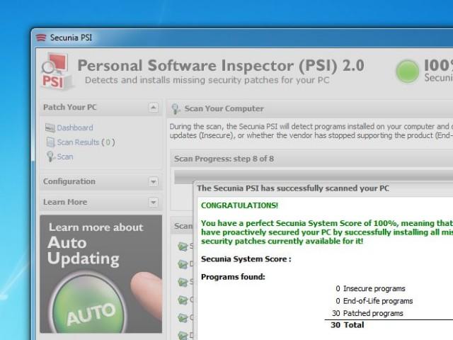 Détectez toutes les applications à mettre à jour avec Secunia PSI
