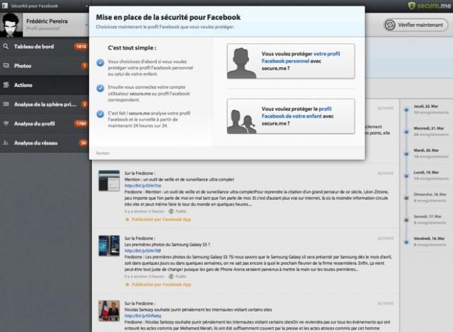 Sécuriser son profil Facebook ou celui de son enfant avec Secure.me
