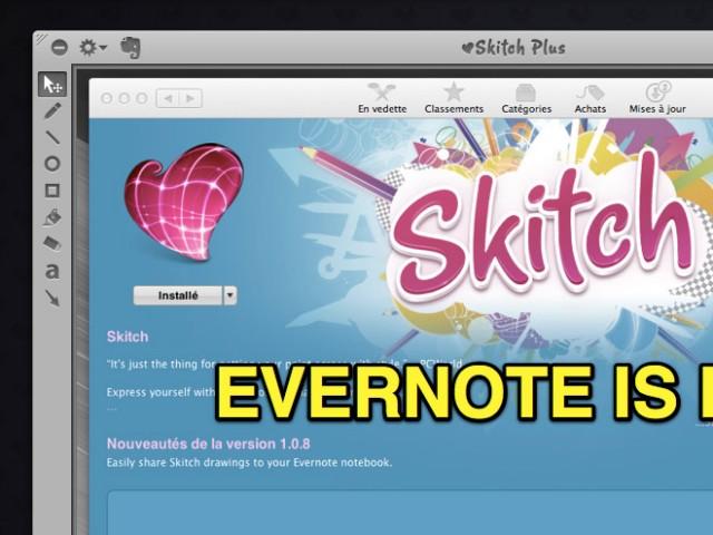 Skitch intègre maintenant Evernote