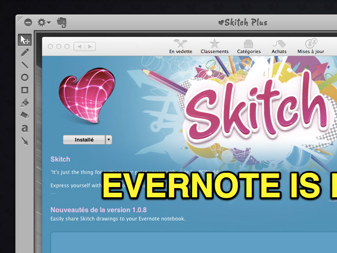 Skitch intègre maintenant Evernote