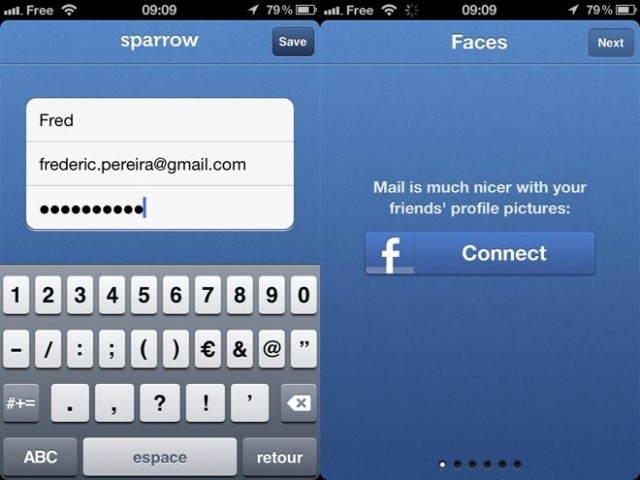 Sparrow est disponible sur l'AppStore