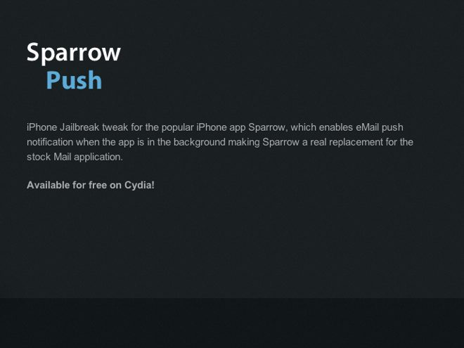 Activer les notifications sur Sparrow, ce sera bientôt possible grâce à Cydia è