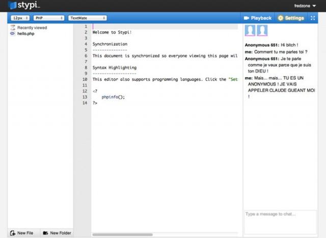 Coder à plusieurs sur le même fichier, c'est facile avec Stypi !