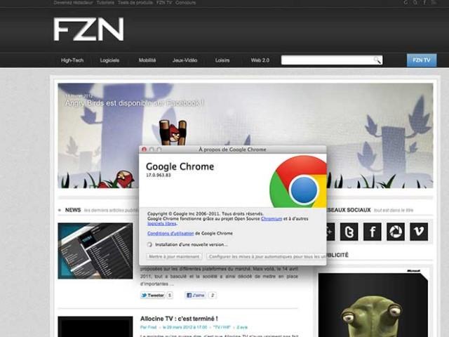 Google Chrome 18 est dans les bacs !