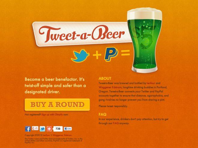 Payez une bière à vos amis Twitter avec Tweet-a-beer