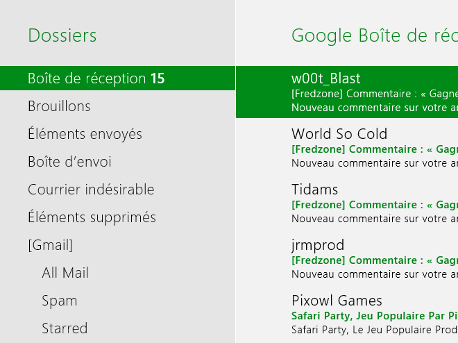 Windows 8 Consumer Preview : le client mail