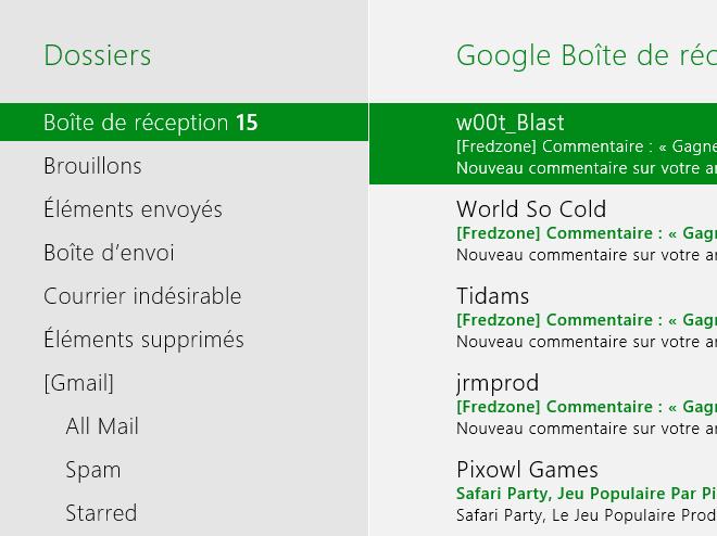 Windows 8 Consumer Preview : le client mail